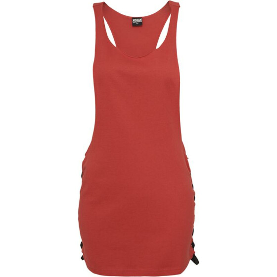 Urban Classics Ladies Side Knotted Loose Tank, red/blk