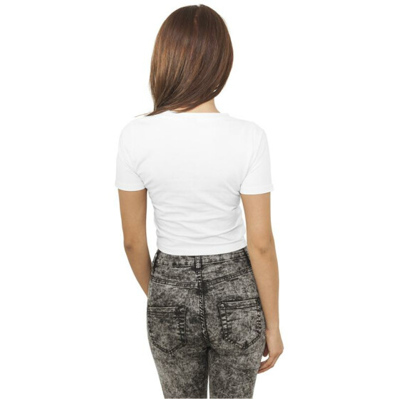 Urban Classics Ladies Cropped Tee, white