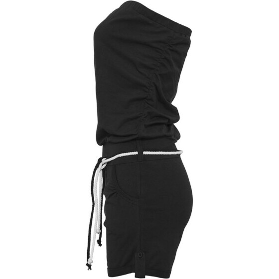 Urban Classics Ladies Hot Turnup Jumpsuit, black