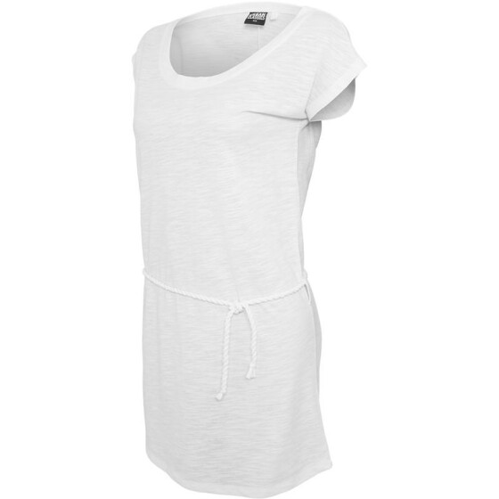 Urban Classics Ladies Slub Jersey Dress, white