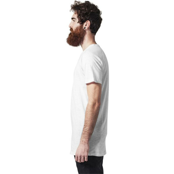 Urban Classics Long Shaped Slub Raglan Tee, white