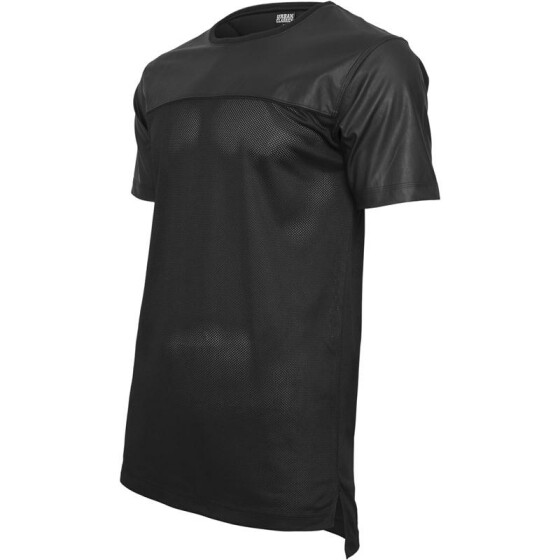 Urban Classics Football Mesh Long Jersey, blk/blk