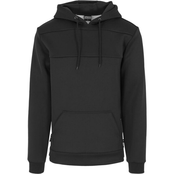 Urban Classics Neopren Side Zipped Hoody, black