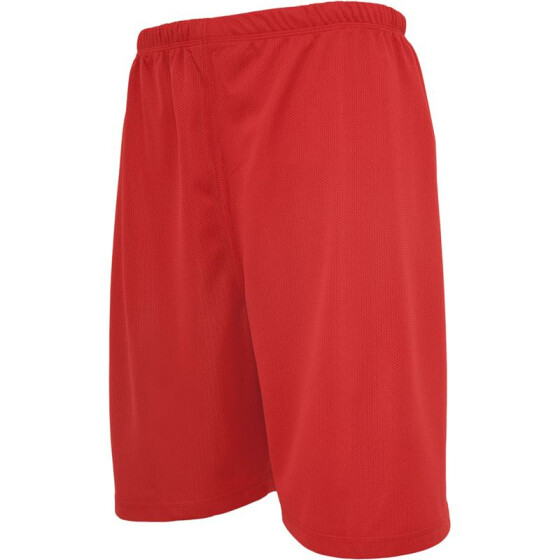 Urban Classics Kids Bball Mesh Shorts, red