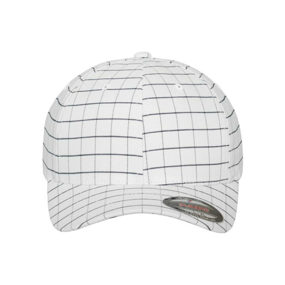 Flexfit Square Check Cap, wht/dark navy S/M