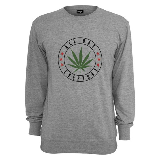 Mister Tee All Day Crewneck, h.grey XL