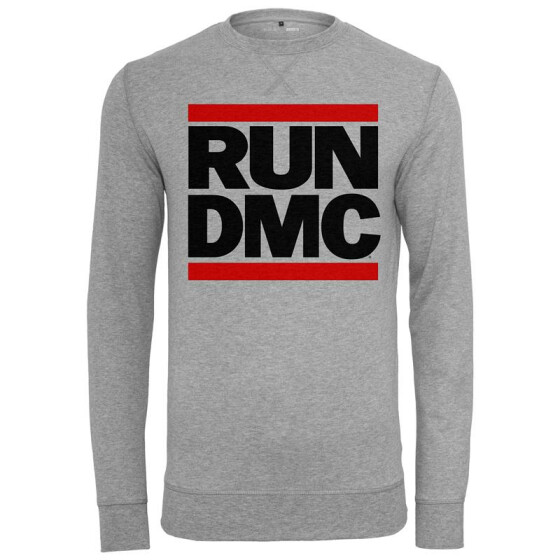 Mister Tee Run DMC Logo Crewneck, h.grey XS