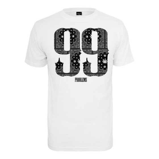 Mister Tee 99 Problems Bandana Tee, white L