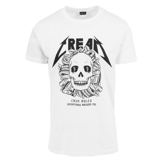 Mister Tee Cream Skull Tee, white XL