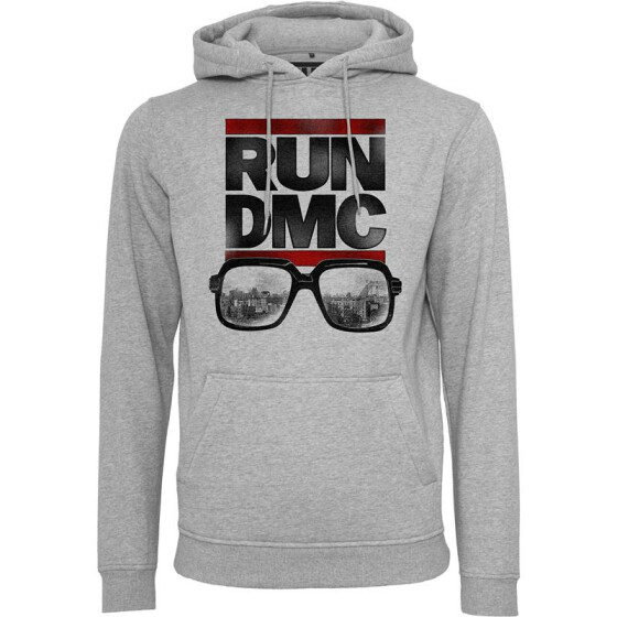 Mister Tee RUN DMC City Glasses Hoody, heather grey S