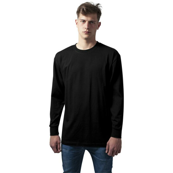 Urban Classics Tall Tee L/S, black 3XL