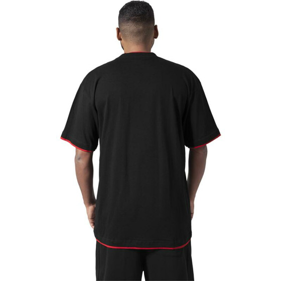 Urban Classics Contrast Tall Tee, blk/red 5XL