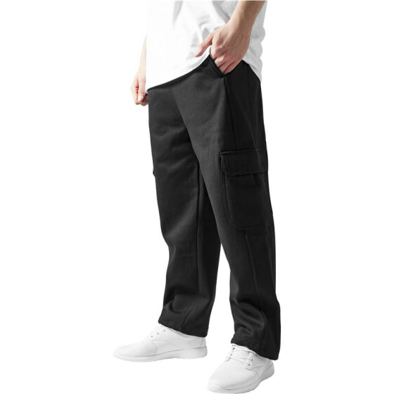 Urban Classics Cargo Sweatpants, black XL