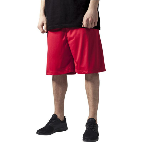 Urban Classics Bball Mesh Shorts, red XL