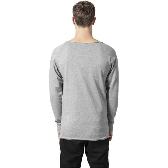 Urban Classics Long Open Edge Terry Crewneck, grey S