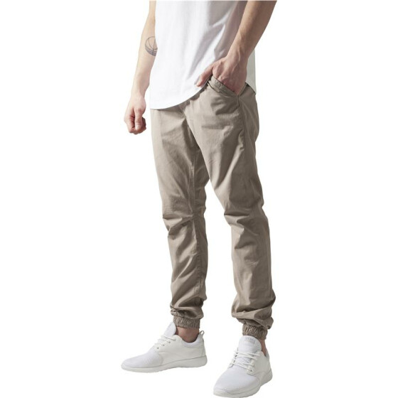 Urban Classics Cotton Twill Jogging Pants, beige 32