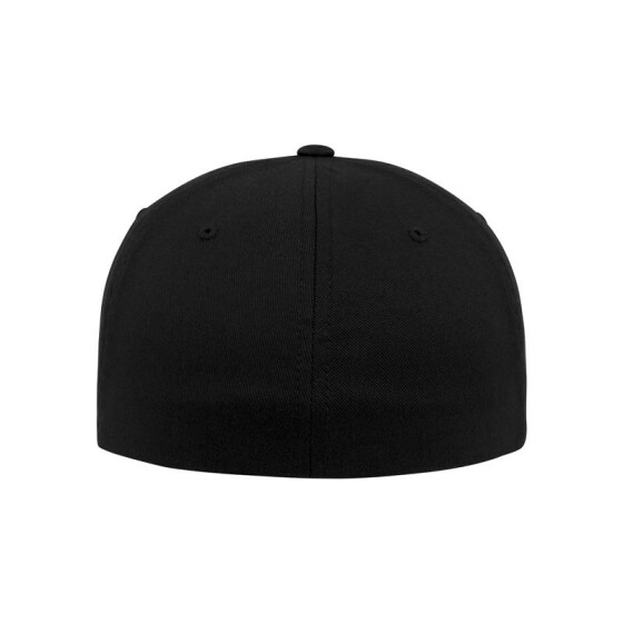 Urban Classics Leatherpatch Flexfit Cap, blk/blk L/XL