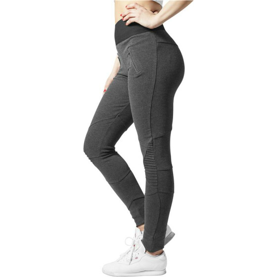 Urban Classics Ladies Interlock High Waist Leggings, cha/blk S
