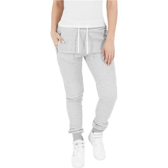 Urban Classics Ladies Melange Biker Sweatpants, gry/gry XL