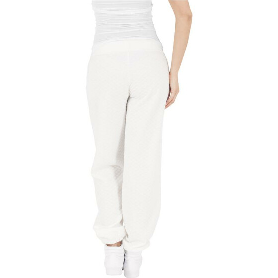 Urban Classics Ladies Quilt Jogging Pants, offwhite L