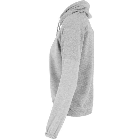 Urban Classics Ladies Quilt High Neck Crew, grey XS