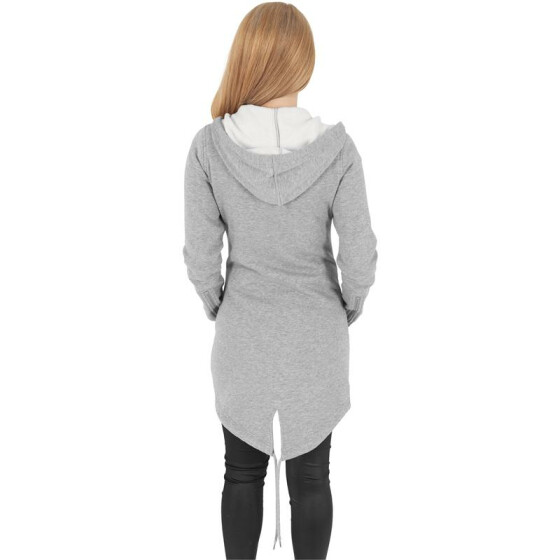 Urban Classics Ladies Sweat Parka, grey XL