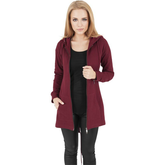 Urban Classics Ladies Sweat Parka, burgundy L