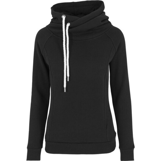 Urban Classics Ladies Raglan High Neck Hoody, black XL