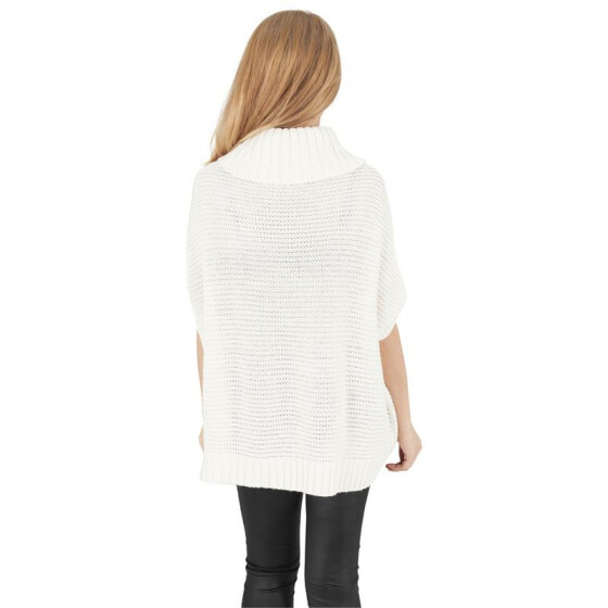 Urban Classics Ladies Knitted Poncho, offwhite XS