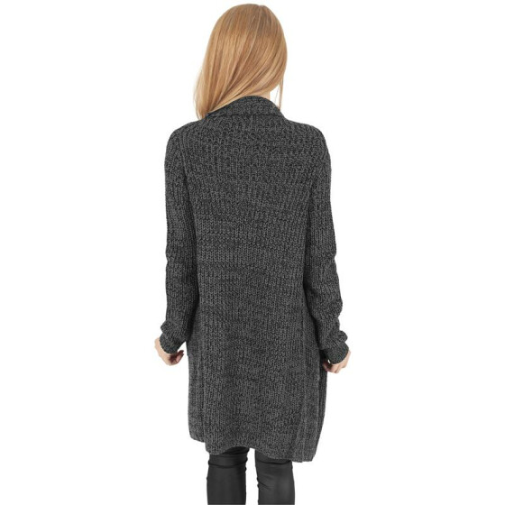 Urban Classics Ladies Knitted Long Cape, charcoal S