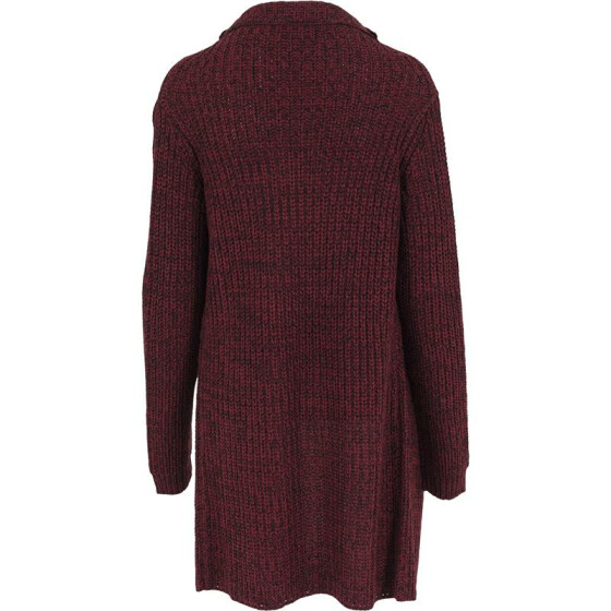 Urban Classics Ladies Knitted Long Cape, burgundy XS