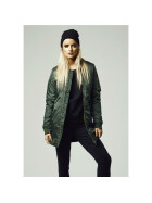 Urban Classics Ladies Long Bomber Jacket, olive S