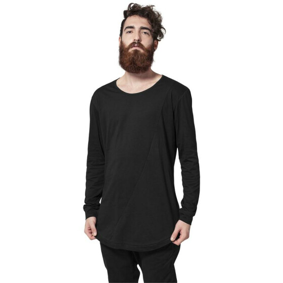 Urban Classics Long Shaped Fashion L/S Tee, black M