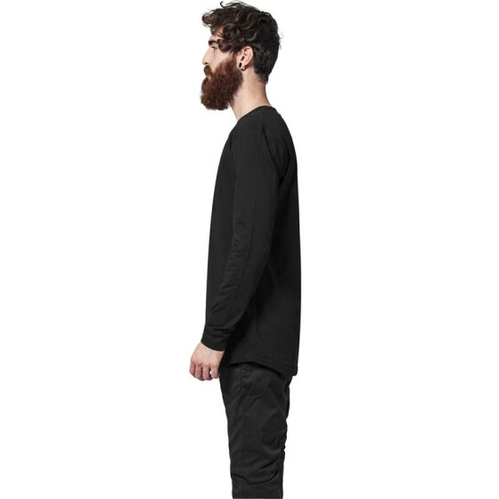Urban Classics Long Shaped Fashion L/S Tee, black L