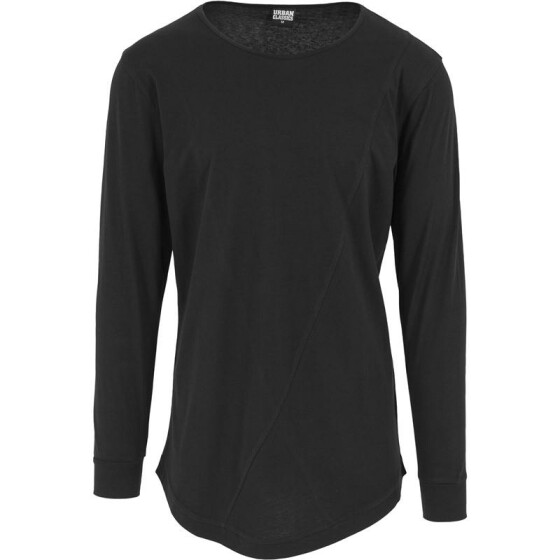 Urban Classics Long Shaped Fashion L/S Tee, black XXL