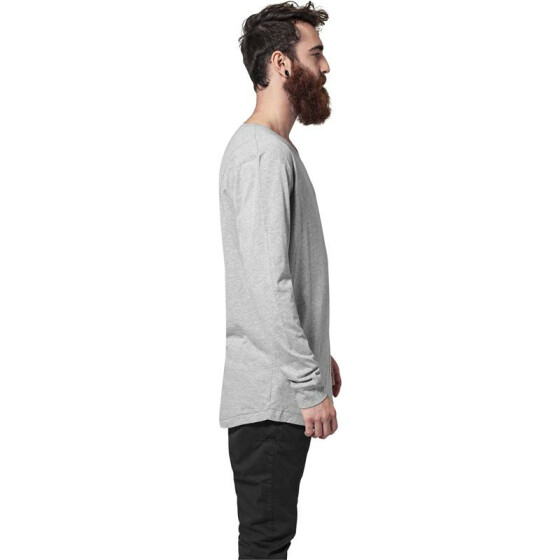 Urban Classics Long Shaped Fashion L/S Tee, grey XL
