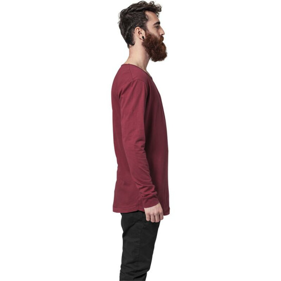 Urban Classics Long Shaped Fashion L/S Tee, burgundy L