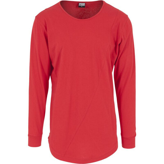 Urban Classics Long Shaped Fashion L/S Tee, fire red  S