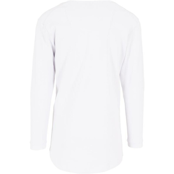 Urban Classics Long Shaped Waffle L/S Tee, white L