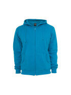 Urban Classics Relaxed Zip Hoody, turquoise XS
