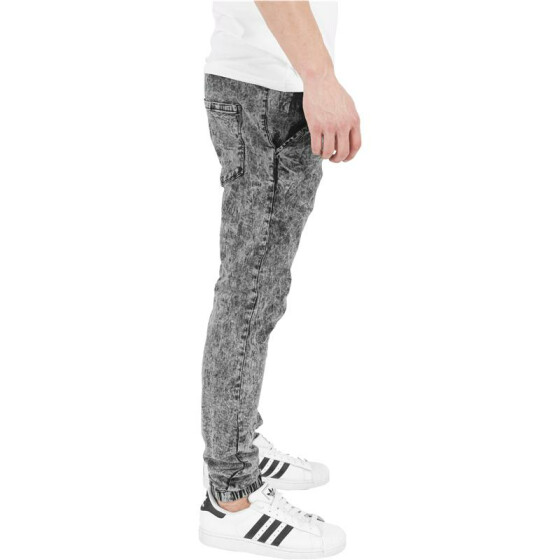 Urban Classics Stretch Denim Jogging Pants, acid black L