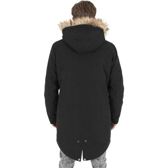Urban Classics Sherpa Lined Cotton Parka, black XXL