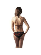 Urban Classics Ladies Triangle Bikini, flower red XL