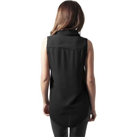 Urban Classics Ladies HiLo Sleeveless Blouse, black XL