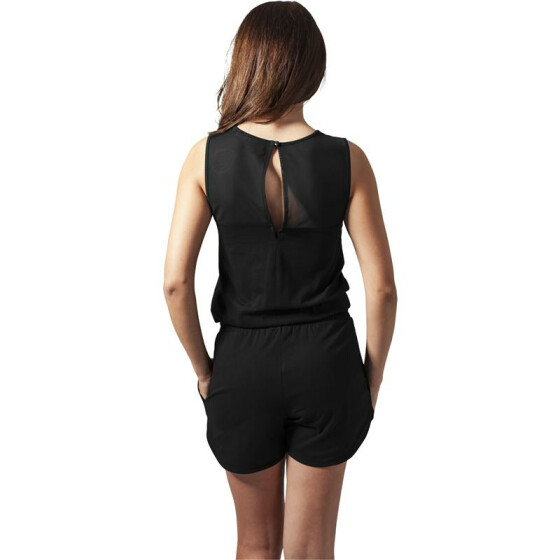 Urban Classics Ladies Tech Mesh Hot Jumpsuit, black L
