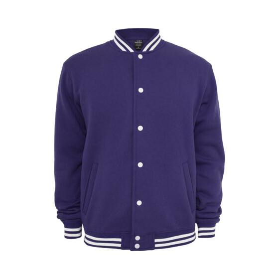 Urban Classics College Sweatjacket, purple S