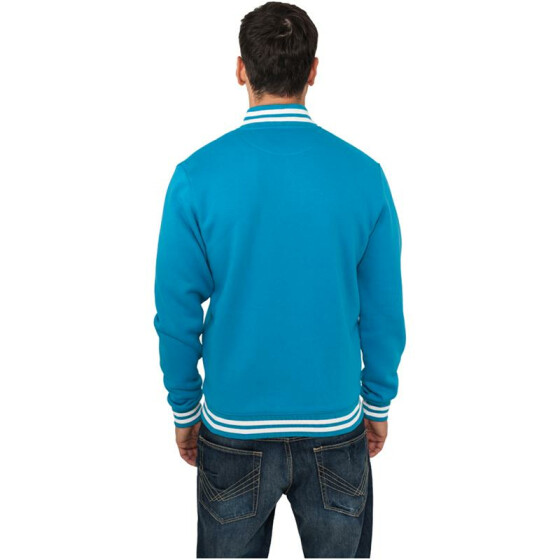 Urban Classics College Sweatjacket, turquoise M