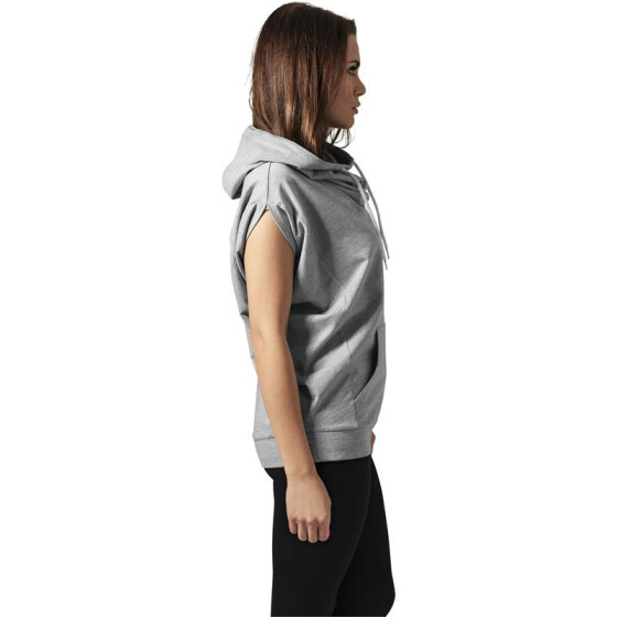 Urban Classics Ladies Sleeveless Terry High Neck Hoody, grey XS