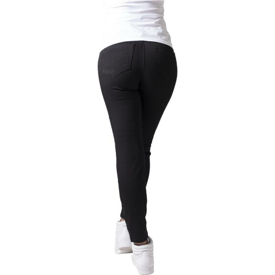 Urban Classics Ladies Stretch Biker Pants, black 27