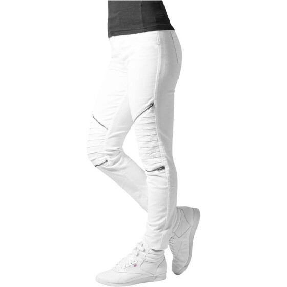 Urban Classics Ladies Stretch Biker Pants, white 27
